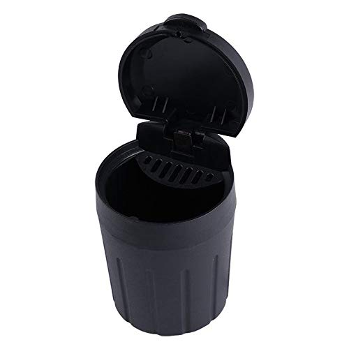 Bolsas para maletero del coche Mini coche basura bin automático vehículo portátil negro basura puede basura basura basura coche almacenaje caja de almacenamiento para cenicero de coche accesorios para
