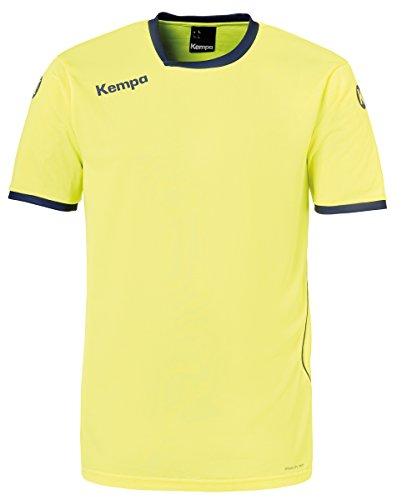 Kempa Herren Curve Trikot, Fluo Gelb/Deep Blau, 128