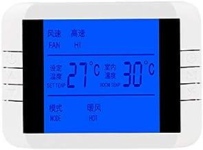 CUHAWUDBA Aire Acondicionado Pantalla LCD Termostato Ventilador Termorregulador Temperatura Control Inteligente TermóMetro Panel de Interruptores