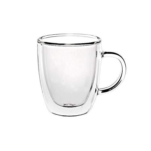 CRISTALICA Cappuccinotasse Trinkbecher Tee Saft Wasser Thermoglas 150ml doppelwandig