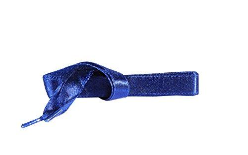 Satijn Lint Schoenveters voor Sneakers, Sportschoenen en Casual Schoenen, Kwaliteit en Duurzaam, Diverse Kleuren en Lengtesleuren, door Kaps, 1 Paar - (90 cm - 36 inch - 5 tot 6 paar ogen -Blauw)