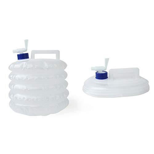 Contenedor de agua portátil,recipiente de agua plegable,cubo de agua plegable, recipiente de almacenamiento de agua, recipiente de agua potable, jarra de agua plegable para senderismo, 5L/10L/15L