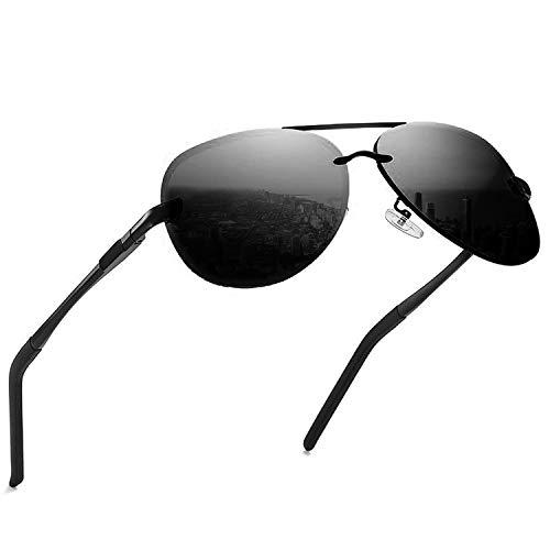 KITEOAGE Sonnenbrille Herren Polarisierte Verspiegelt UV400 Pilotenbrille Damen Sonnenbrillen