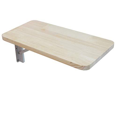 Wandklaptafel, klaptafel van grenenhout, afgeronde hoeken en wandtissc, eettafel, bureau, multifunctionele tafel, ontbijttafel, afgeronde hoeken, computertafel 40×30cm/16×12inch wit
