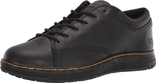 Dr. Martens Women's Maltby SR Food Service Shoe, Black Newark & Black Extra Tough 50/50 & Black Rubbery & Black Soft PU, 11
