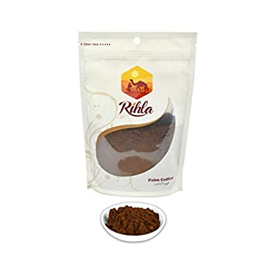 Yemeni Palm Coffee - Natural Healthy Substitute to Herbal Tea and Coffee - healthy non-acidic caffeine-free substitute - Rihla's Coffee - 8.8oz (250g)