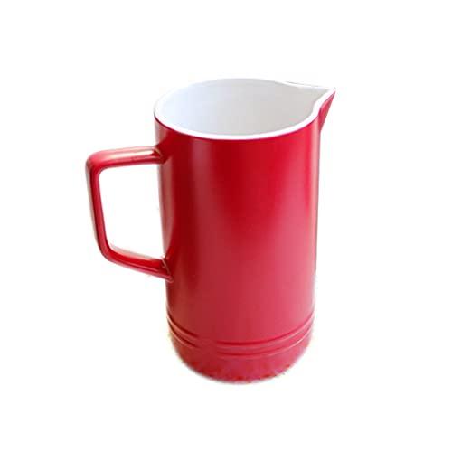 Tazas Taza De Café 33.8 Oz Jarra de cerámica Retro con Mango Mildicón Multi-Color JUG con SPOUT HOGAR Tetera Hot Hot Frol Agua Juguete Rojo Verde...