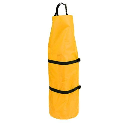 MagiDeal Sac De Rangement Compression Tente Sac à Dos pour Camping Sport Extérieur - Jaune, 31 x 70 cm