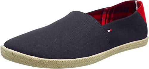 Tommy Hilfiger Easy Summer Slip on, Alpargatas para Hombre, Azul (Midnight 403), 45 EU