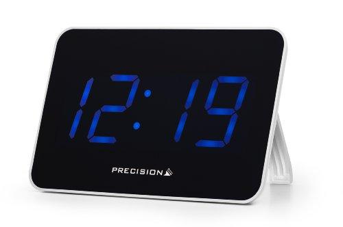 Precision LED Radio Controlled Clock, Black/White Orologio