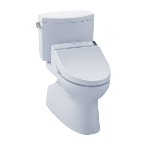 TOTO MW4742044CEFG#01 WASHLET+ Vespin II Two-Piece Elongated 1.28 GPF Toilet and WASHLET C200 Bidet Seat, Cotton White