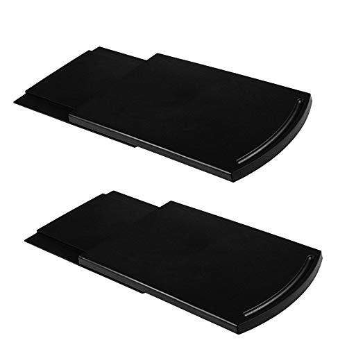 Kitchen Caddy Sliding Coffee Tray Mat, Under Cabinet Appliance Coffee Maker Toaster Countertop Storage Moving Slider - Base sliding shelf With Smooth Rolling Wheels, 2 Pack
