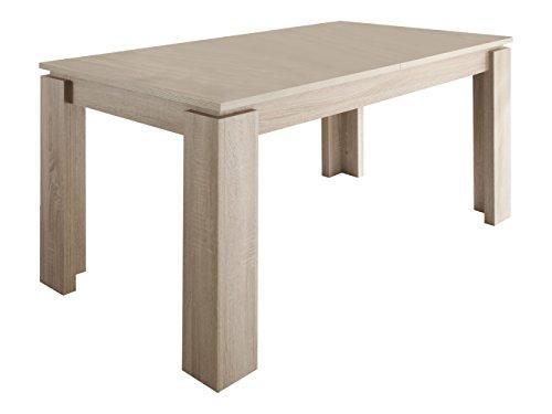 trendteam smart living Esszimmer Küchentisch, Esstisch Tisch Universal, 160 x 77 x 90 cm in Eiche Sägerau Hell mit Ausziehfunktion