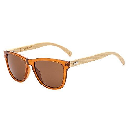 Suertree Fashion Bamboo Sonnenbrille Frauen Mann Vintage Wood Sonnenbrille Retro Holz Schattierungen JH8002