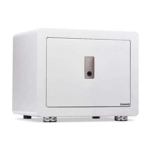 XiYou Caja de Seguridad Segura, Semiconductor de Metal Inteligente Huella Digital Oficina en casa Diseño antirrobo Placa sólida Invisible para guardarropa (38 * 28.5 * 31.8cm)