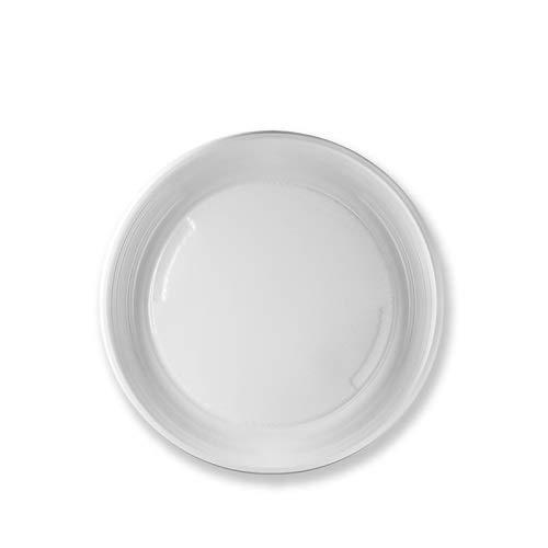 Virsus 105 piatti plastica rigida piani 3 cf x 35 pezzi bianchi articoli per feste stoviglie Diam 21 cm
