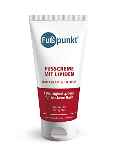 Fußpunkt - Fußcreme mit Lipiden und 10% Urea - Intensivpflege bei sensibler und trockener Haut - 150 ml