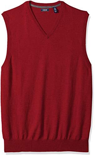 IZOD Men's Big Premium Essentials Solid V-Neck 12 Gauge Sweater Vest, New Biking red, 5X-Large Tall