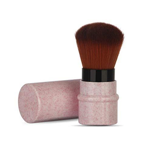 Hffbyvty Mini Makeup Brush, Einziehbare Foundation Makeup Puder Rouge Beauty Brush Travel...
