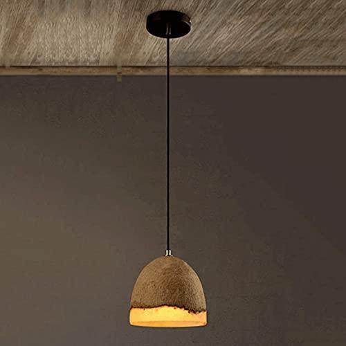 CHENBAI Personalidad Alternativa Retro Resina Cemento Araña Moderno Industrial Mini Lámpara Colgante de Techo con Pantalla de Cemento Cemento Montaje Empotrado Techo Lámparas Colgantes