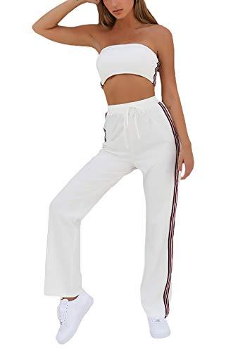 Tweedelig zomer dames moderne stijl mode tweedelig sport Hip Vacation geschenken Hop Slim Fit Locker sportkleding Schoudervrij Bandeau Twin-set joggingpak