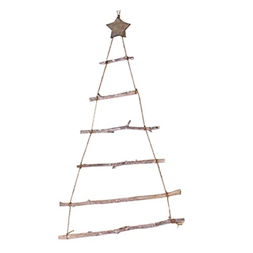 VALICLUD 1 Set of Wooden Hanging Decor Wall Pendant Christmas Tree Shape Ornament (Brown) Party Favors