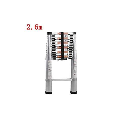 DY Stap Ladder 4M Telescopische Extension Ladder:Aluminium Draagbare Multi-Purpose Vouwen A-Frame Ladder Voor Home Loft Office 150 Kg Laadcapaciteit