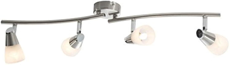 Wohnorama LED Spot 4-FLG Laika von Nino Nickel matt Alabaster Weiss by