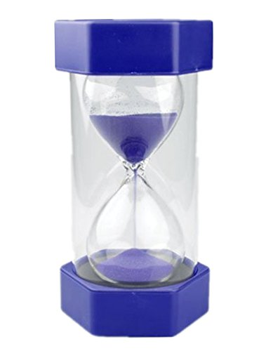 EQLEF Sicherheit Fashion Sanduhr 10 Minuten Sanduhr (10 Minuten blau)