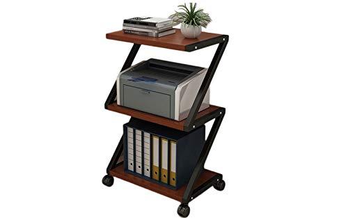 Unter dem Schreibtischdruckerständer 3-Lagen-Finishing-Rack für das Home Office mit 4 rollenden Rädern, Organizer für den Arbeitsbereich zu Hause und im Büro für Kopierer von Faxgeräten,Schwarz
