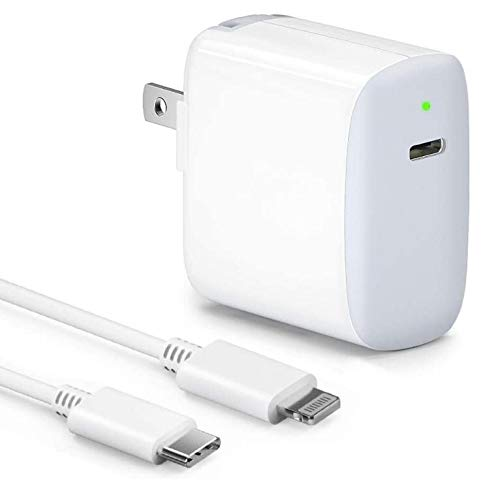Fast Charger for iPhone [MFi Certified],18W PD USB C Power Adapter for New iPhone for New iPhone 12/12 Mini/12 Pro Max/11 Pro Max/8 Plus iPad Pro AirPods