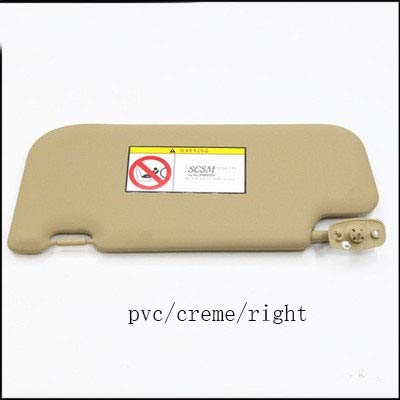 SHOUNAO Coche Sun Visor Car Sunshade Maquillaje Espejos Ajuste para Great Wall H3 H5 Parasol 1pc (Color : PVC Right Creme)