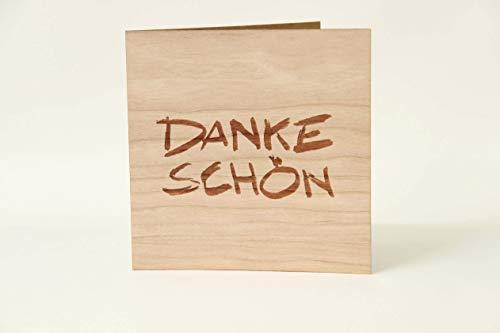 Holzgrußkarten Dankeskarte