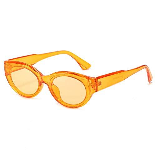 ZZOW Gafas De Sol Ovaladas De Ojo De Gato A La Moda para Mujer, Gafas De Sol Retro De Color Jalea Transparente para Hombre, Gafas De Sol Rosa Verde Oliva De Tendencia Uv400