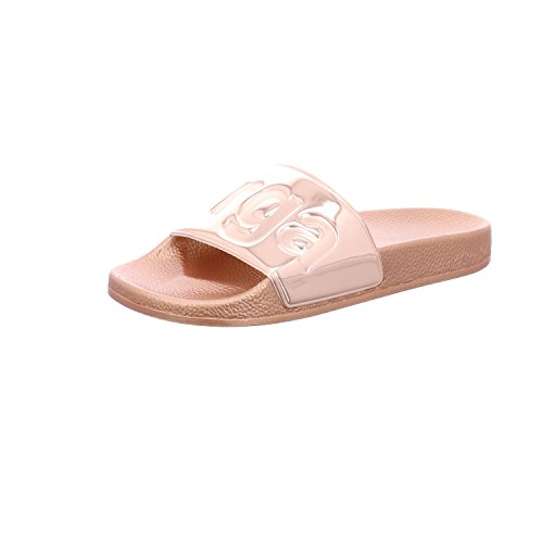 Superga Unisex-Erwachsene Slides Metallic Slipper, Pink (Rose Gold), 36 EU