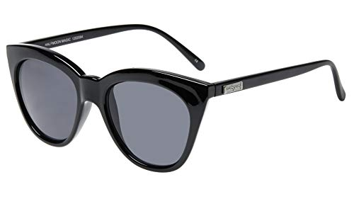 Le Specs Women's Half Moon Magic Sunglasses, Black/Smoke Mono, One Size