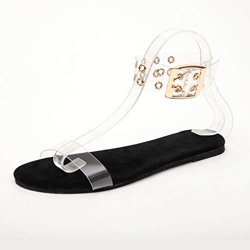 Damessandalen Transparante flats schoenen Grote maat Dames Clear schoenen Dames Romeinse strandschoen
