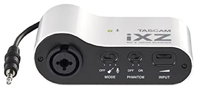 Tascam iXZ Microphone and Instrument Audio Interface for iOS Mobile Devices, iPhone, iPod, and iPad