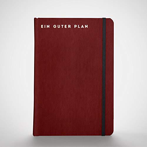 Ein guter Plan Pro 2021 | Ganzheitlicher Terminkalender für mehr Achtsamkeit und Selbstliebe | Reflexion + Ziele erreichen | Klimaneutral, Altpapier | Burgund