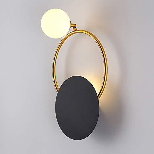 Sebasty lámpara de pared luz personalidad creativa postmodern minimalista lámpara de pared dormitorio noche lámpara de lujo sala de estar TV fondo pared pasillo escalera luz