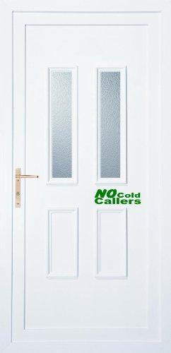 Geen koude bellers voordeur Vinyl sticker/Decal (groen)