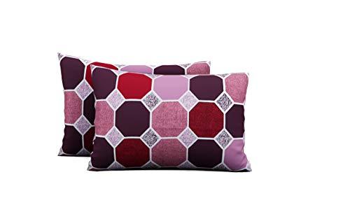 Urban Magic® 104 TC Pure Cotton 2 Piece Pillow Covers (Pack of 2, 44 cm*66 cm, Pink Color)