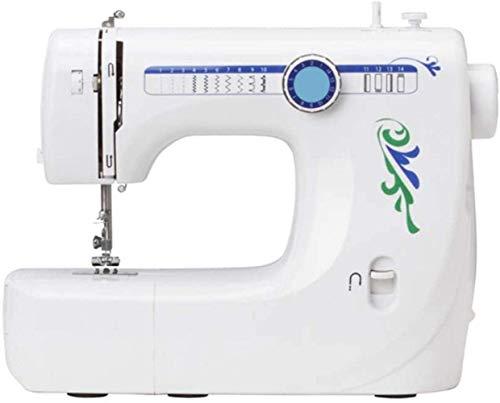 YLJYJ Herramientas de reparación Máquina de coser-14 Patrones de Puntada Pedal eléctrico Control de Velocidad Doble Prensatelas reemplazable Máquina de reparación de 2 velocidades (máquina de Coser)