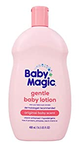 Baby Magic Baby Lotion With Original Baby Scent, Camellia Oil & Marshmallow Root, 16.5 Oz