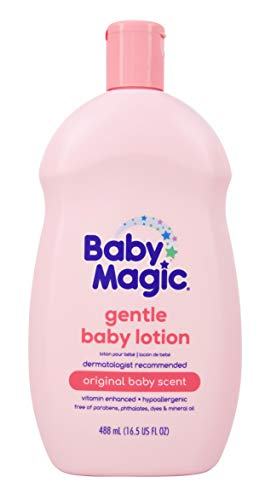 Baby Magic Gentle Baby Lotion  | Vitamins & Aloe | Free of Parabens, Phthalates, Sulfates and Dyes |16.5oz