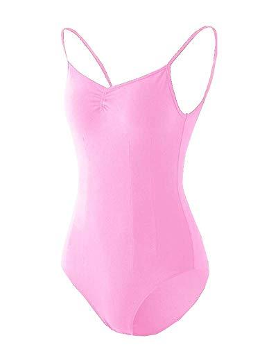 Black Temptation Costume de Gymnastique Femme Dancewear Combinaison de survêtement Ballet Topwear Court Pink
