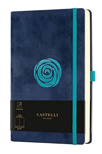 Castelli Milano VELLUTO Rose - Cuaderno de 13 x 21 cm, con tapa dura, 240 páginas