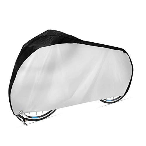 aoory Fahrradabdeckung 420D Wasserdichtes Atmungsaktives Oxford Gewebe Fahrradgarage Mit Schlossösen Schutz Universal Fahrrad Schutzhülle