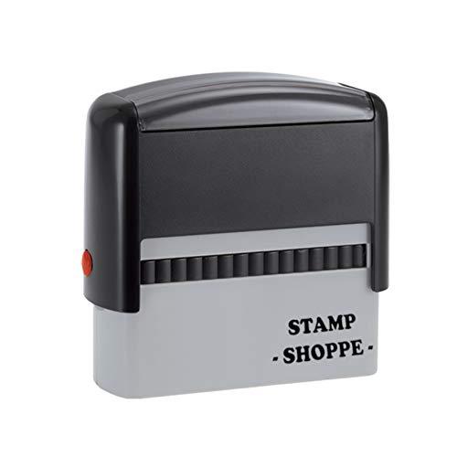 2 Line Custom Stamp   Classic Grey Model, 2.3x0.81 Inch Rectangular Prints
