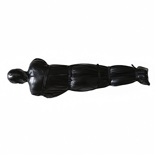 Black Soft Leather Plush Onesies for Sleep One-Piece Novelty Pajamas for Men Women Girls Lover Gift, Sturdy and Non-Toxic (Medium, Black(All-Inclusive Sleeping Bag))